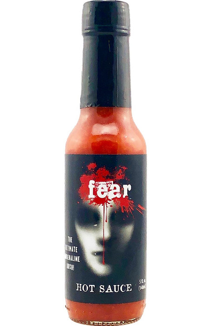 Fear Hot Sauce w/ Bhut Jolokia Pepper, 5oz.