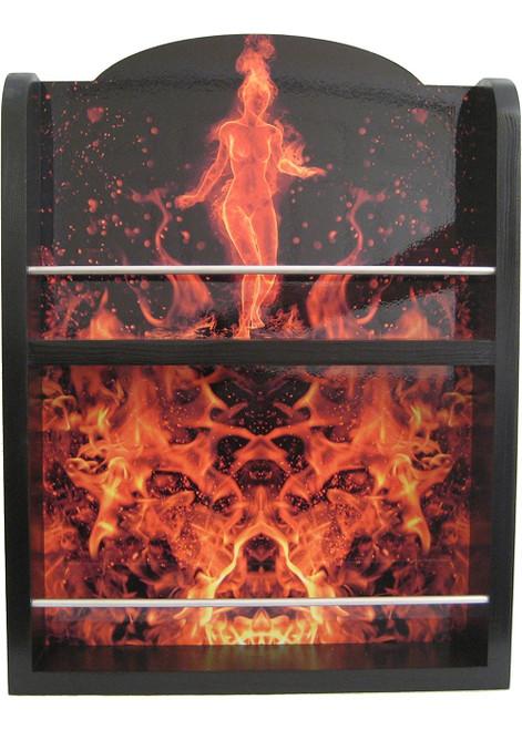 Hot Sauce 2 Shelf (Flaming BEAUTY) Hot Sauce Rack, Displays 14/5oz. (Sold Out)