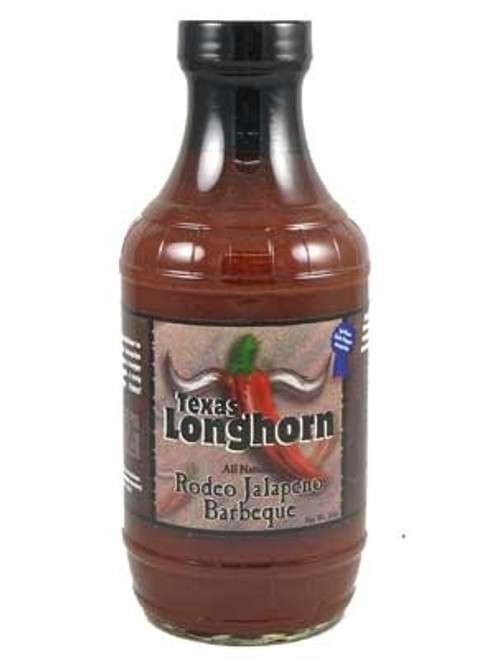 Texas Longhorn Rodeo Jalapeno Barbecue Sauce, 15oz.