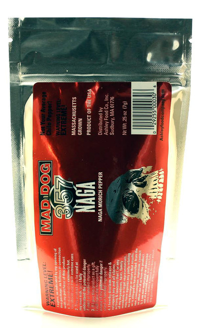 Mad Dog 357 Ghost Naga Morich Peppers, .25oz.
