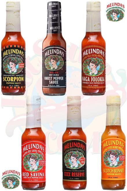 Melinda's Hottest Hot Sauces Gift Set, 6/5oz.