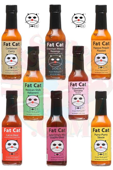 Fat Cat Complete Hot Sauces Gift Set, 8/5oz.