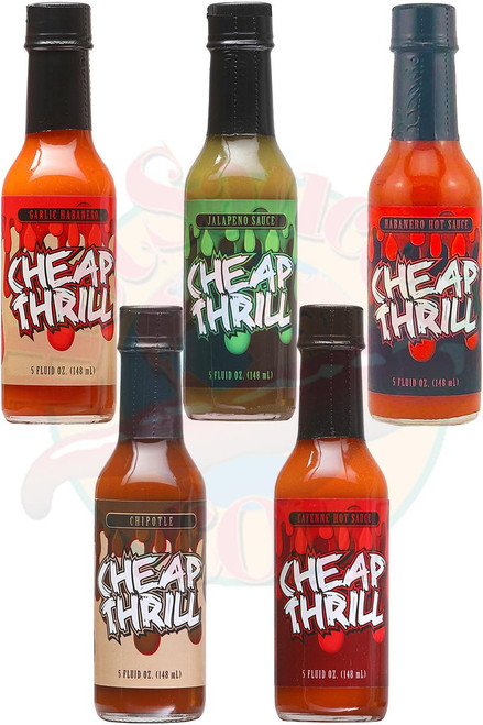Cheap Thrill Hot Sauce Complete Gift Set, 5/5oz.