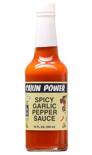 Cajun Power Spicy Garlic Pepper Sauce, 6oz.