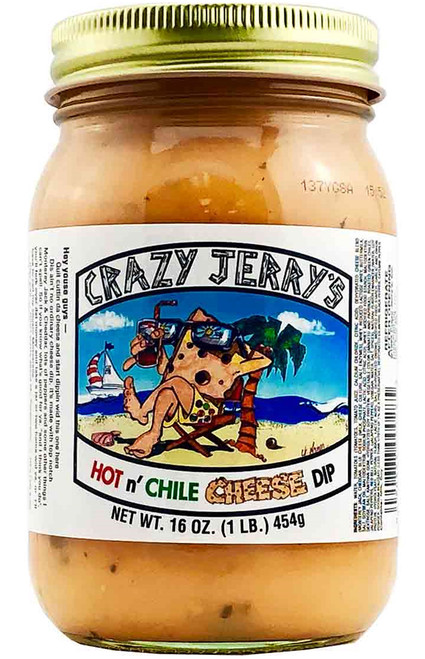 Crazy Jerry's Hot N' Chile Cheese Dip, 16oz.