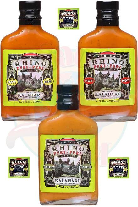 African Rhino Peri Peri Gift Set, 3/6.75oz.