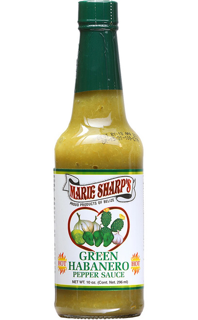 Marie Sharp's Hot Nopal / Prickly Pear Green Habanero, 10oz.