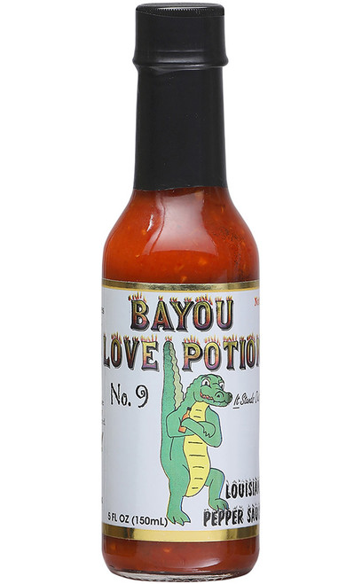 Bayou Love Potion Number 9 Louisiana Peppa Sauce, 5oz.