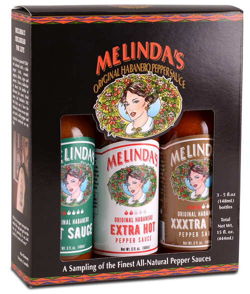 Melinda's 3 Pack Hot Sauce Gift Set, 3/5oz.