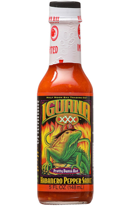Iguana XXX Pretty Damn Hot Habanero Pepper Sauce, 5oz.