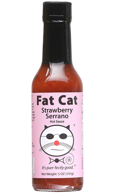 Fat Cat Strawberry Serrano Hot Sauce, 5oz.