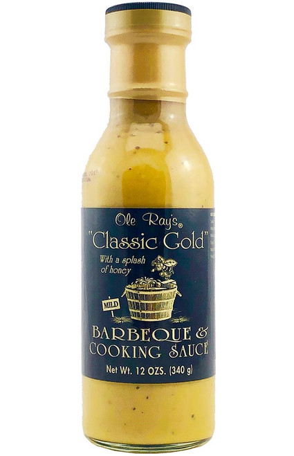 Ole Ray's Classic Gold BBQ and Cooking Sauce, 12oz.