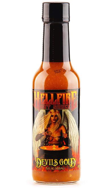 Hellfire Devil's Gold Hot Sauce, 5oz.