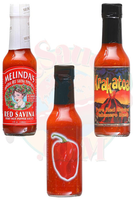 Best of Red Savina Hot Sauces Gift Set, 3/5oz.