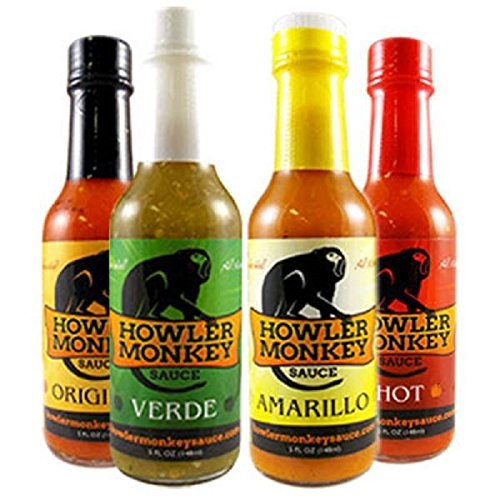 Howler Monkey Hot Sauce Variety 4 Pack, 4/5oz.