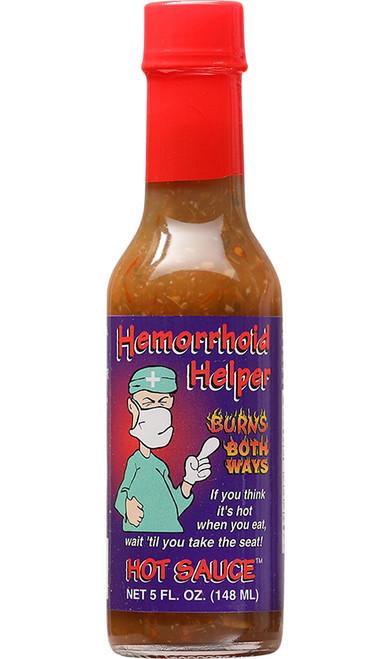 Hemorrhoid Helper Burns Both Ways Hot Sauce, 5oz.