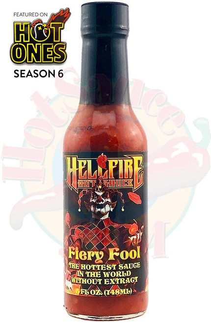 Hellfire Fiery Fool Hot Sauce, 5oz.