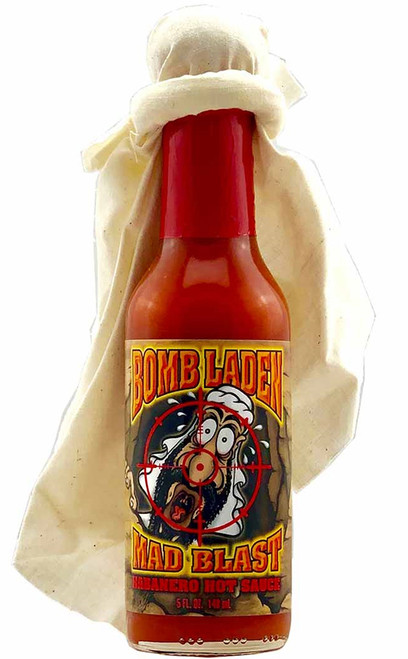 Bomb Laden Mad Blast Habanero Hot Sauce, 5oz.