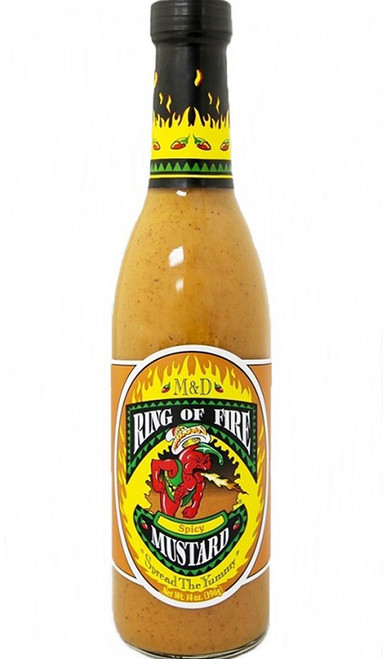 Ring of Fire Spicy Mustard, 14oz.
