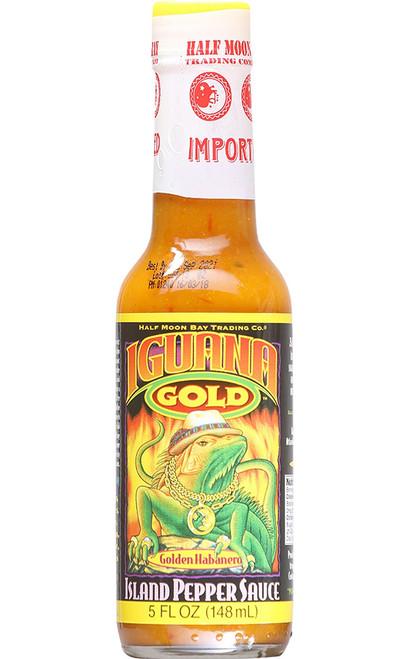 Iguana Gold Golden Habanero Island Pepper Sauce, 5oz.
