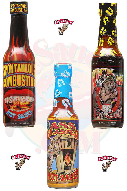 Ass Kickin Hottest Hot Sauces 3 Pack, 3/5oz.