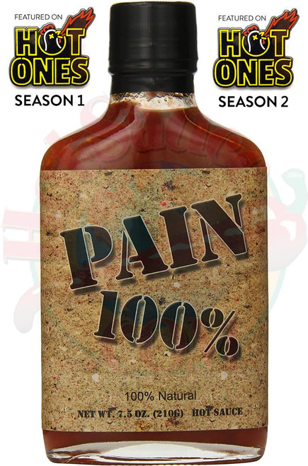 PAIN 100% Hot Sauce, 6.5oz.