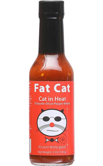 Fat Cat Cat in Heat Hot Sauce, 5oz.
