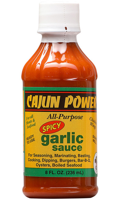 Cajun Power Spicy Garlic All Purpose Sauce, 8oz.