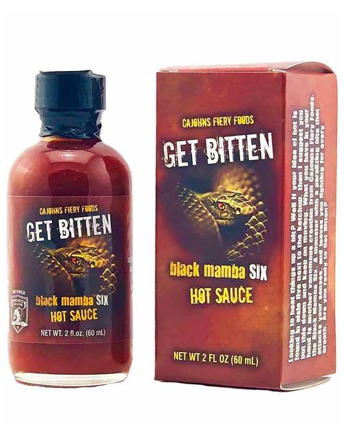 CaJohn's Get Bitten Black Mamba 6 Hot Sauce, 2oz.