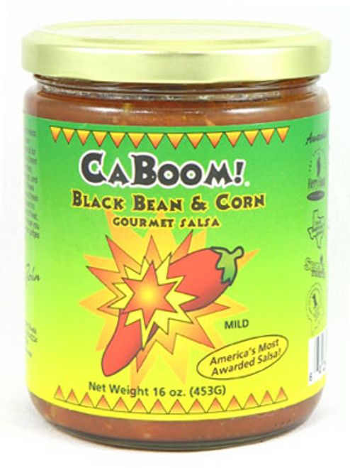 Caboom! Black Bean and Corn Gourmet Salsa, 16oz.