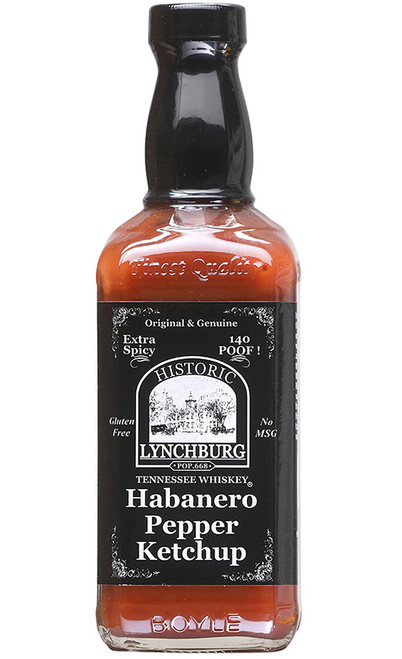 Historic Lynchburg Tennessee Whiskey Extra Spicy 140 Proof Habanero Pepper Ketchup, 15oz.