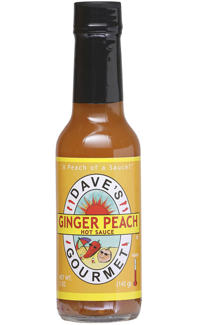 Dave's Gourmet Ginger Peach Hot Sauce, 5oz.