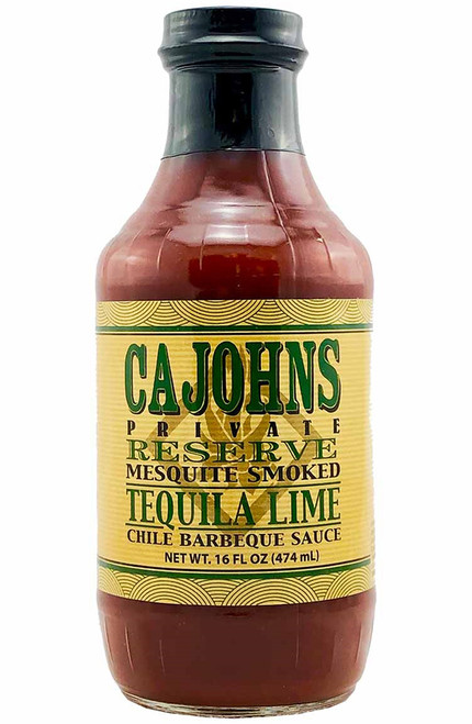 CaJohn's Mesquite Smoked Tequila Lime Chile Barbeque Sauce, 16oz.