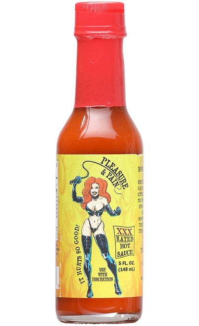 Pleasure & Pain XXX Rated Hot Sauce, 5oz.