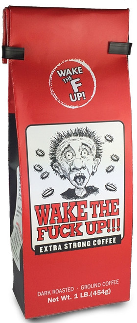 Wake The Fuck Up! Extra Strong Coffee, Ground, 1lb.