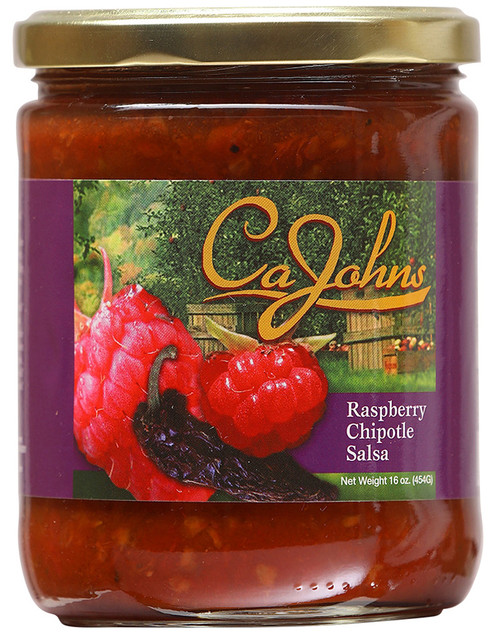 CaJohn's Gourmet Raspberry Chipotle Salsa, 16oz.