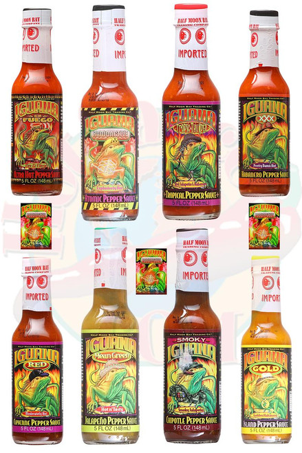 Iguana Ultimate en Fuego Pepper Sauce Gift Set, 8/5oz.