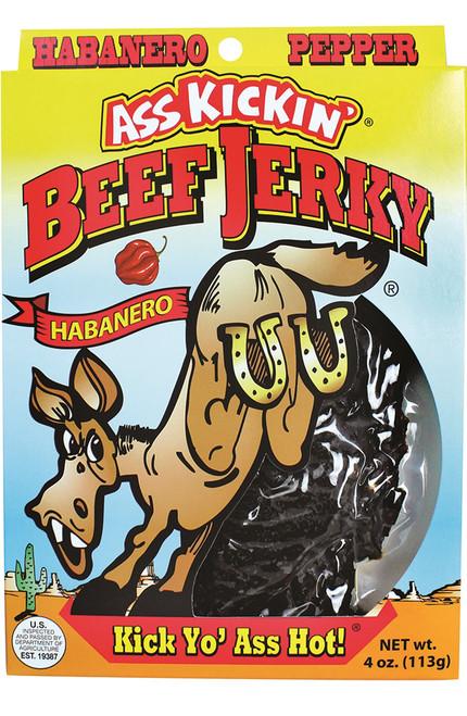 Ass Kickin Beef Jerky, 4oz.