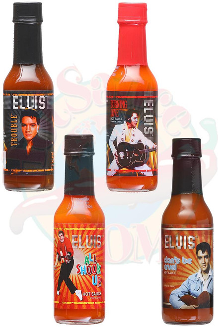 Elvis' Hot Sauces 4 Pack Gift Set, 4/5oz.