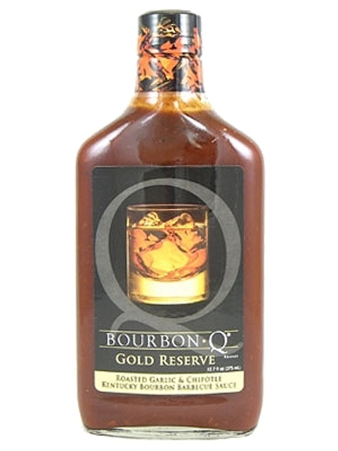 Bourbon Q Gold Reserve Roasted Garlic and Chipotle Kentucky Bourbon BBQ, 12.7oz.