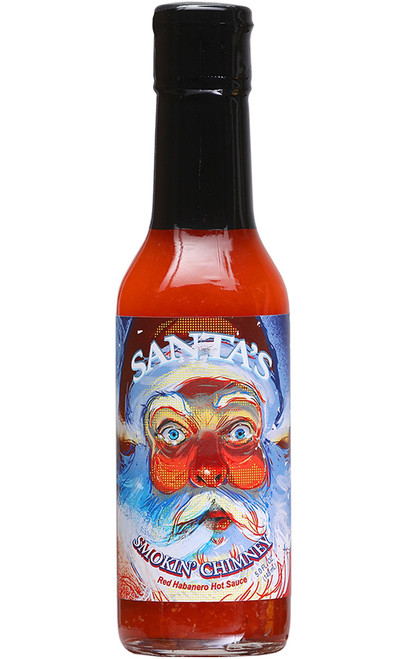 Santa's Smokin' Chimney Red Habanero Hot Sauce, 5oz. (Seasonal)