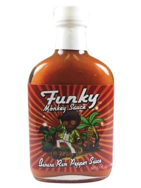 Funky Monkey Banana Rum Pepper Sauce, 5.7oz.