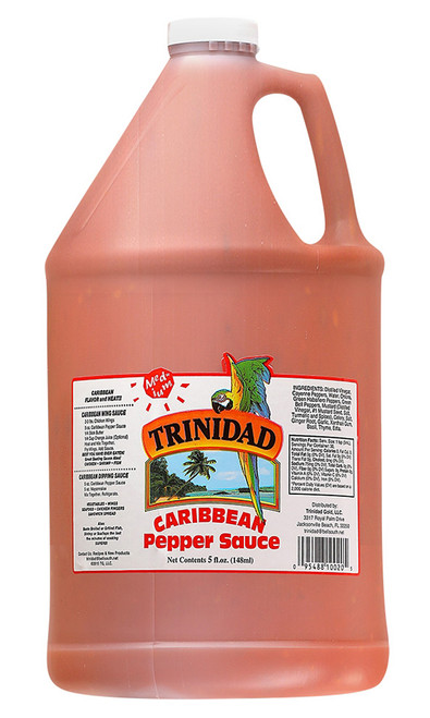 Trinidad Caribbean Medium Pepper Sauce Gallon, 128oz.