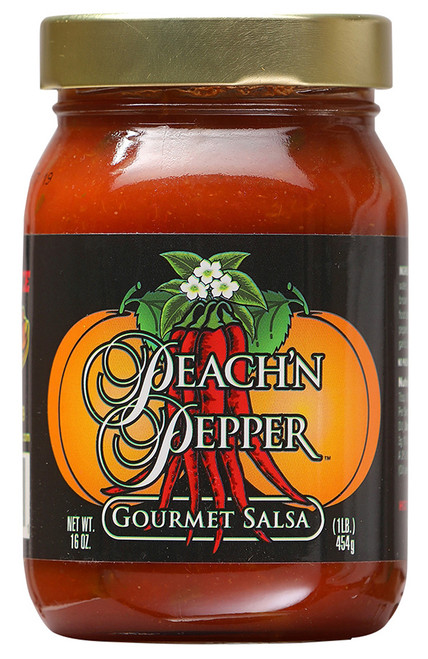 Peach 'N Pepper Gourmet Salsa, 16oz.