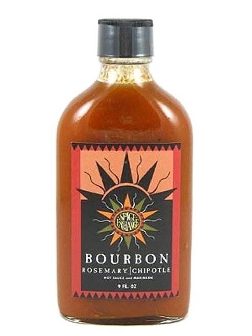 Spice Exchange Bourbon Rosemary Chipotle Hot Sauce and Marinade, 9oz.