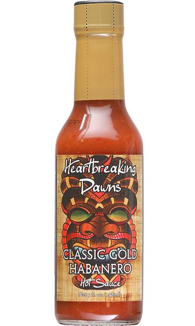 Heartbreaking Dawns Classic Gold Habanero Hot Sauce, 5oz.
