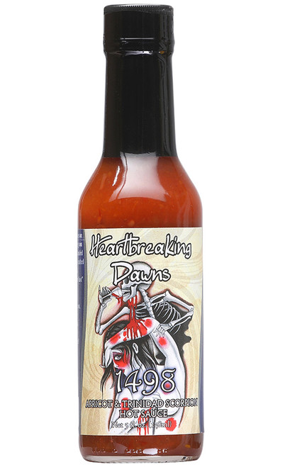 Heartbreaking Dawns 1498 Apricot & Scorpion Hot Sauce, 5oz.