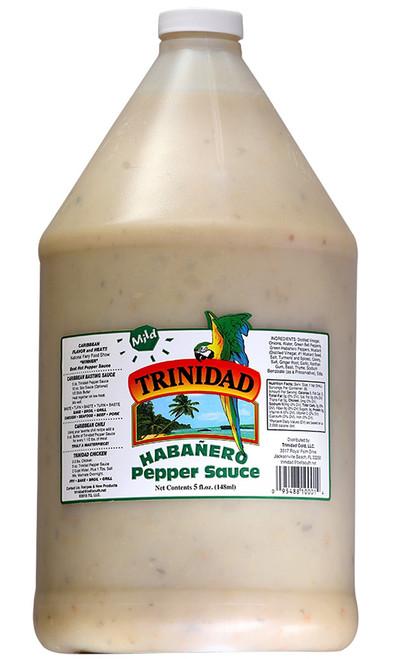 Trinidad Mild Habanero Pepper Sauce, 1 Gallon, 128oz.