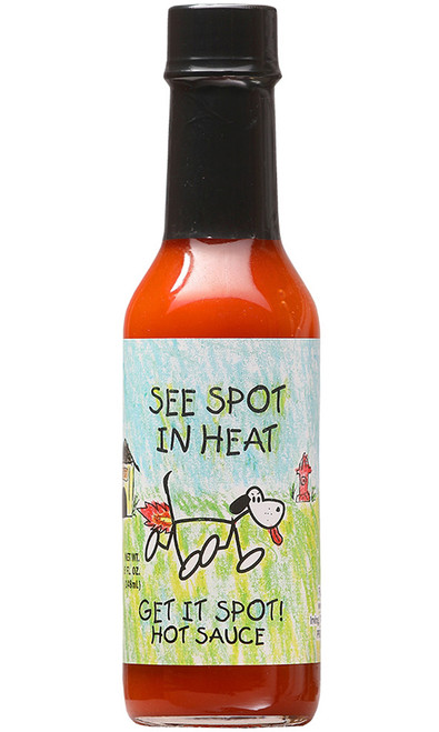 See Spot In Heat Hot Sauce, 5oz.