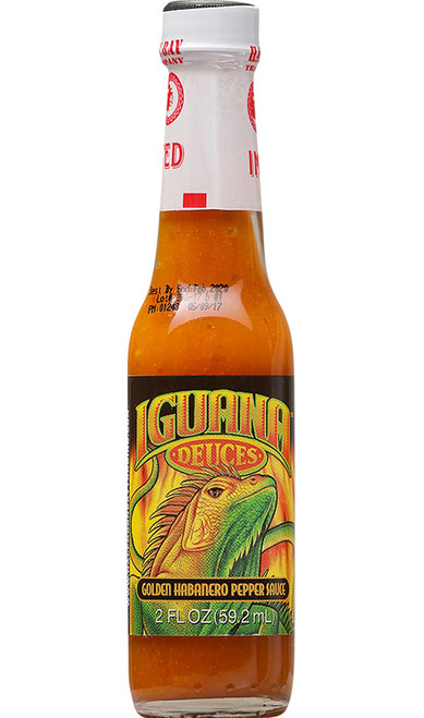 Iguana Bold Gold Habanero Mini Hot Sauce, 2oz.
